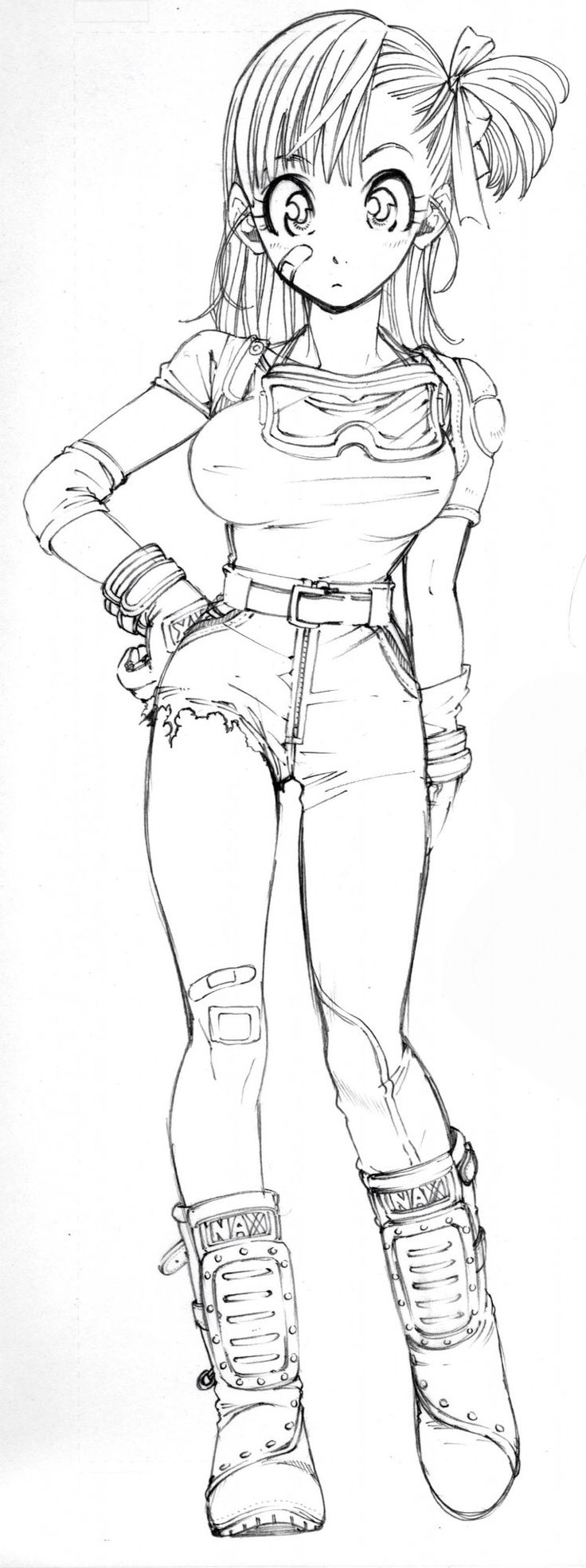 "A moment ago, I was like, ""Why don't I add another dope Bulma to my Illustrated Ladies board?"" And here we are. This one is by Yoshiyuki Miwa. The scan is rather large, so you can see how terrific the lines are."