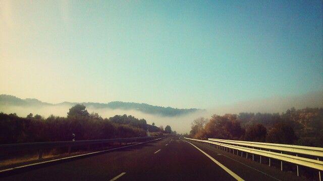 Entrando en la niebla. Lleida.