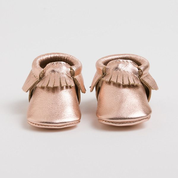 Rose Gold - Limited Edition Moccasins from Freshly Picked #kidsfashion #sharktank