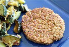 Steak Végétarien à base de flocons de céréales et protéines de soja, cette recette est devenu un classique pour moi.