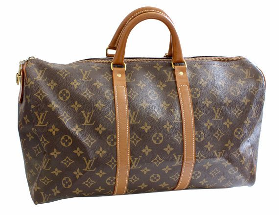 70s Louis Vuitton Monogram Keepall Travel Duffle Bag French Company 45cm Rare Duffle Bag Travel Louis Vuitton Monogram Louis Vuitton