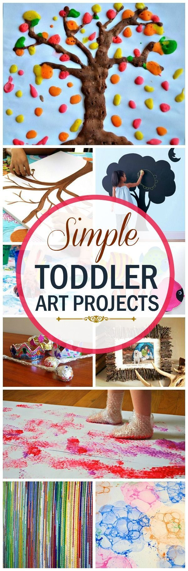 The toddler years are also the perfect time to learn new things. Your child is like a sponge right now. She will soak in all you can teach her.here are the top 10 creative art projects for #toddlers