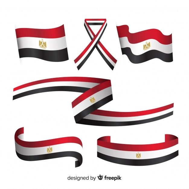 Egyptian Flag Collection With Flat Design Egyptian Flag Egypt Flag Flag