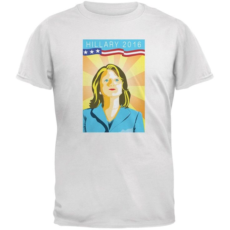 Election Hillary Clinton Poster White Adult T-Shirt