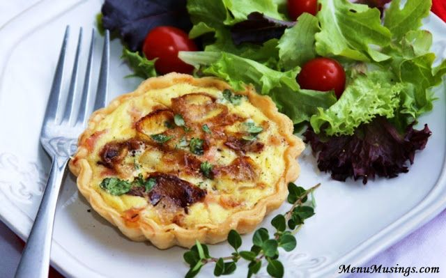 ... of a Modern American Mom: Ham, Caramelized Onion, and Gruyere Quiche