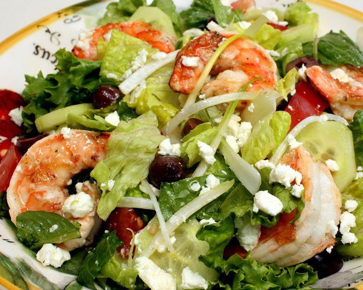 salads | Mediterranean Shrimp Salad | Wives with Knives