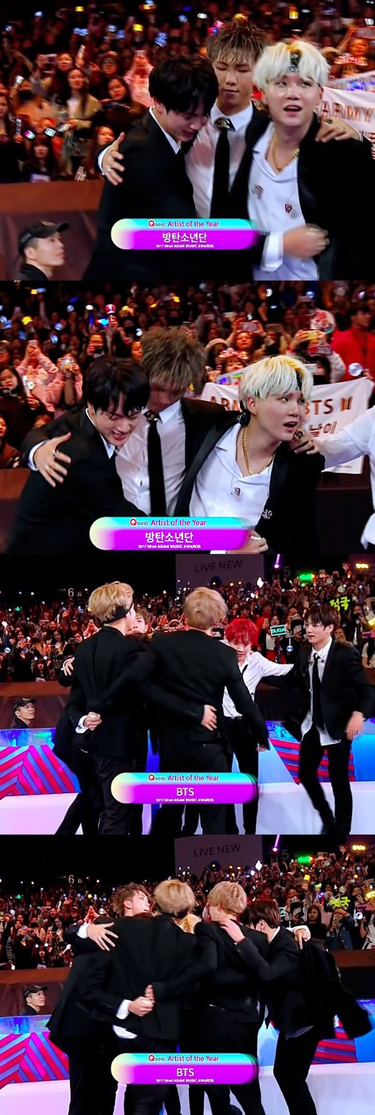❤️❤️Congratulations to BTS for winning Artist of the Year at MAMA 2017❤️❤️ // 171201 // #BTS // #MAMA2017