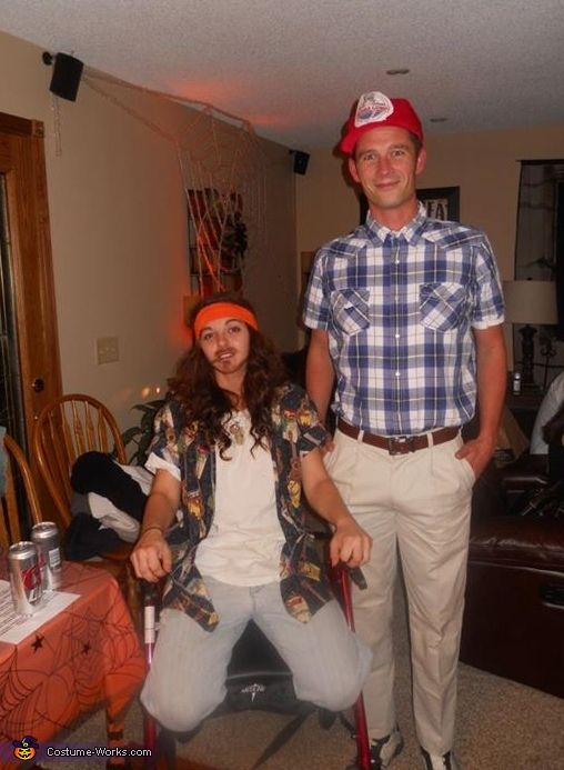 Forrest Gump and Lieutenant Dan - 2013 Halloween Costume Contest via @costumeworks