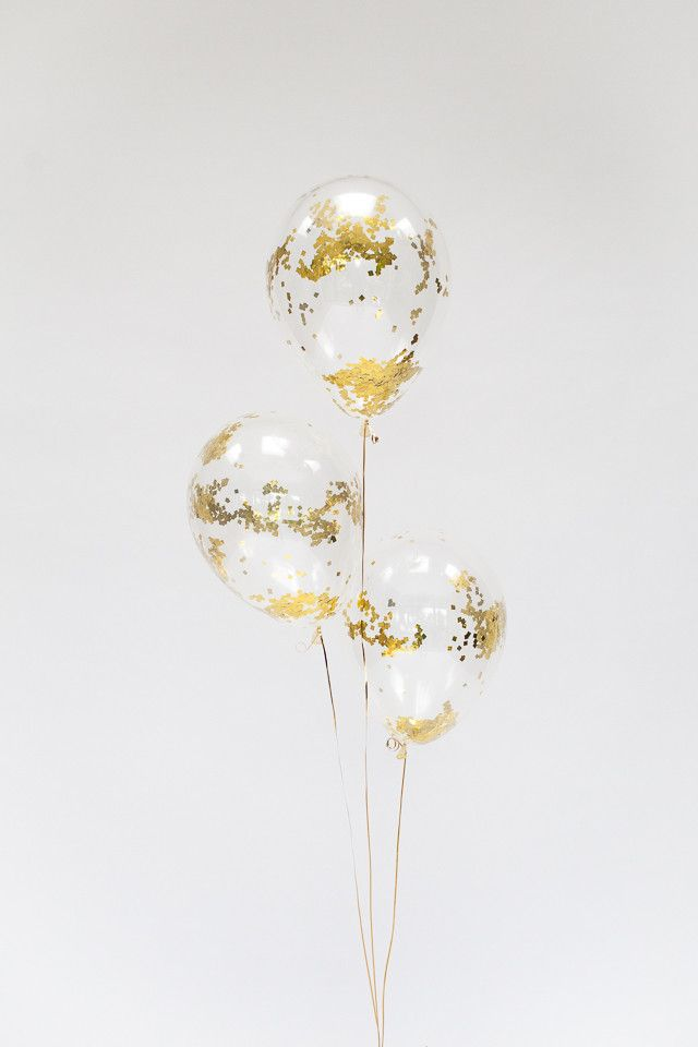 """Gold Sprinkle Confetti Balloons 11"""" (5 Pack)"""