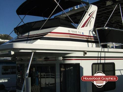 Best Boat Or Houseboat Decal Names Images On Pinterest - Houseboat decals