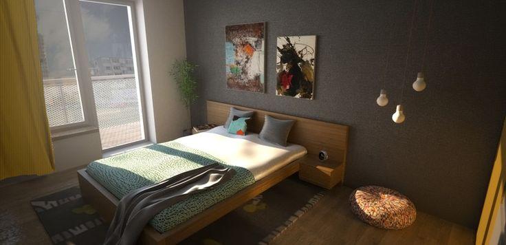 Návrh spálne typového bytu - Interiér bytu, Colorhouse II - Interiérový dizajn / Bedroom interior by Archilab