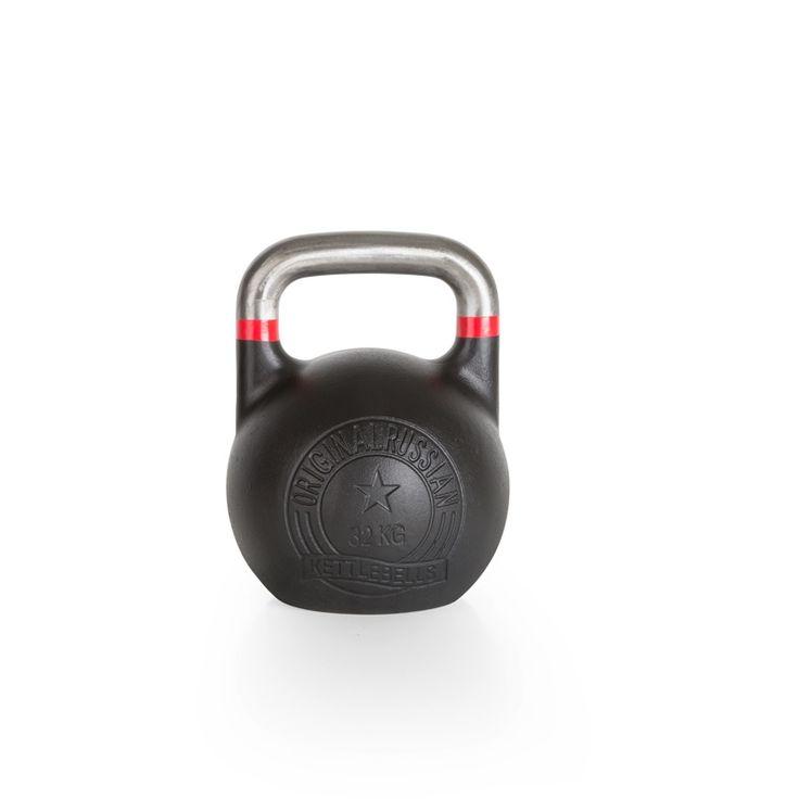Original Russian Kettlebells - Competition - Wettkampfkettlebell 32 kg. Die Competition-Kettlebell ist besonders robust und langlebig. Der blanke, unlackierte Griff mit Farb-banding ist glatt geschliffen und gewährt ein professionelles und sicheres Handling. Details hier:: http://www.megafitness-shop.info/Kraftsport/Hanteln-Gewichte/Kettlebells/KB-Professional/Original-Russian-Kettlebell-Competition-8-48-kg--1670.html #kettlebell #kugelhantel