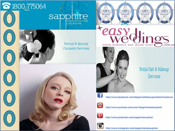 A good hairstyle and an elegant makeup can do wonders about your appearance when performed by professionals. Sapphire Makeup & Hair Creations is one of the best makeup artists in Gold Coast, offering on-site assistance for bridal hair and makeup anywhere in Gold Coast and its adjoining areas.