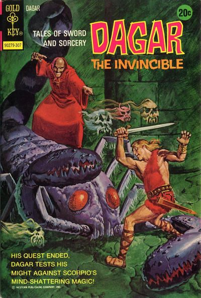 Cover for Tales of Sword and Sorcery Dagar the Invincible (Western, 1972 series) #4