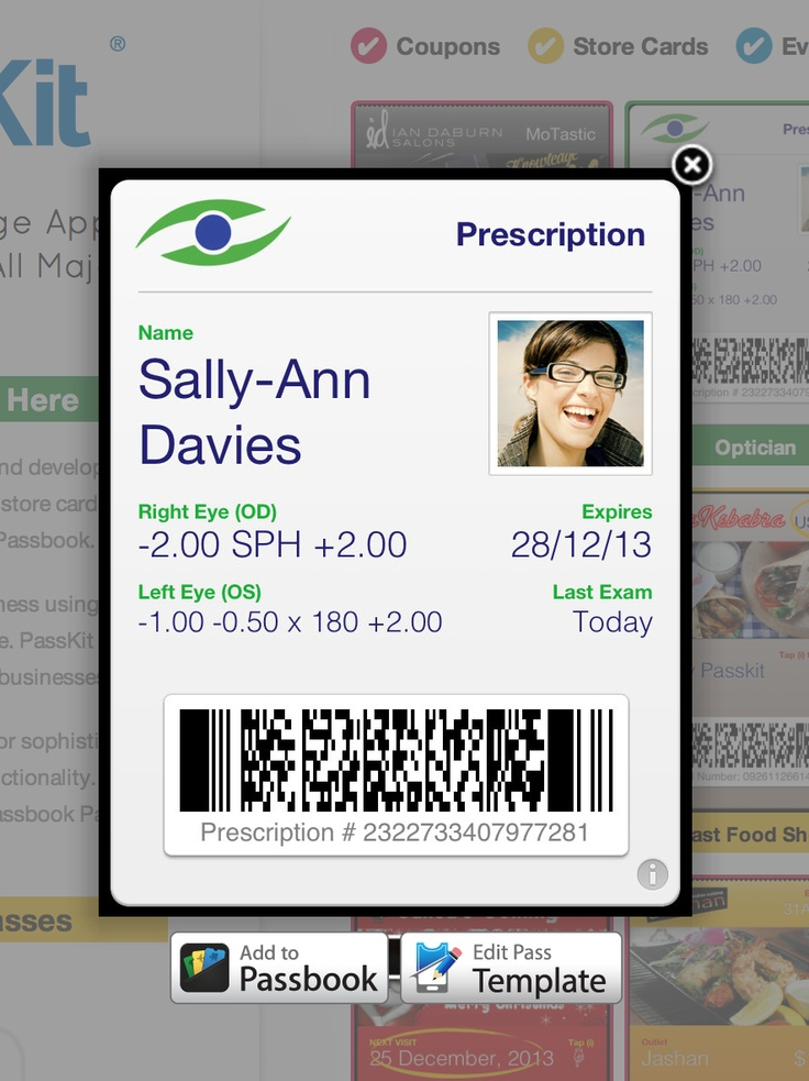You can now start your creating Passbook Passes using the samples from the PassKit Home Page. Simple select and choose Edit Pass Template. The sample is then loaded the Pass Designer. Remember to give the template a name before you save it to your account.