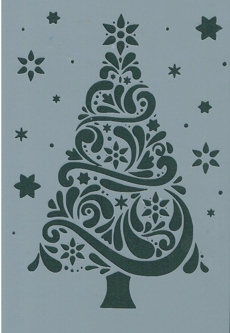 Free Christmas Stencils For Cakes