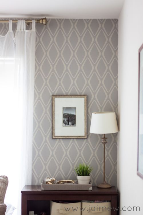Retro Home Decor Ideas ~ retro modern removable wallpaper accent wall - Devine Diamond in Twig by @target