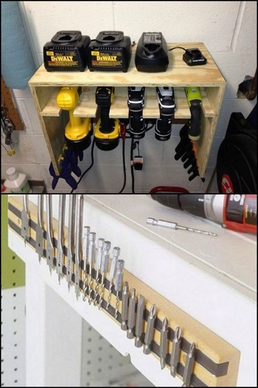 The secret to a safe and efficient workshop is an organized and accessible tool storage system! Get more ideas here...