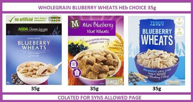 Blueberry cereal slimming world syn values healthy b