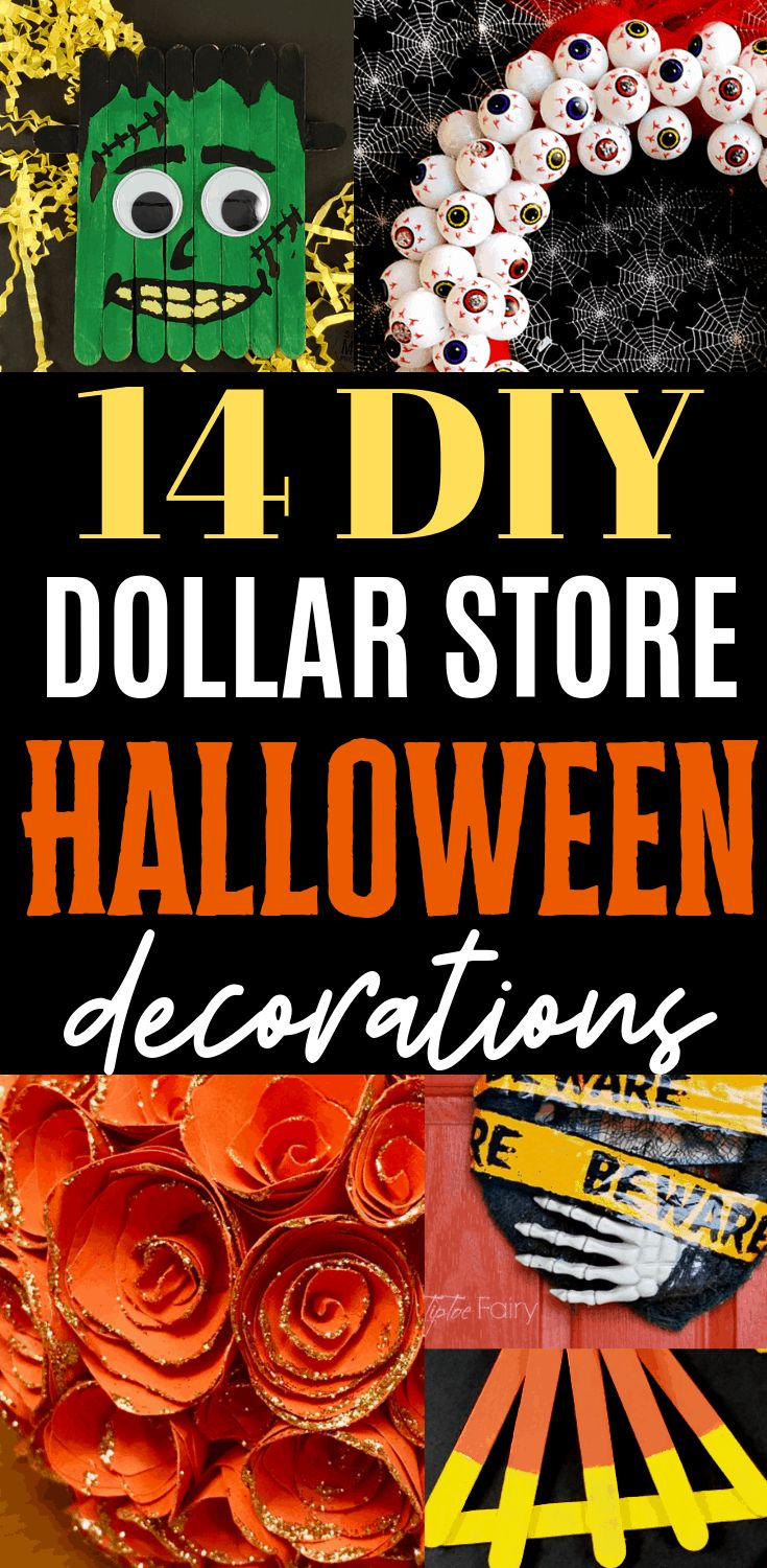 14 DIY Dollar Store Halloween Decorations to make …