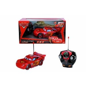 KJELL 24€  Dickie-Spielzeug 203089501 - Disney Cars 2 - RC Lightning McQueen, 2-Kanal Funkfernsteuerung, entweder 27 oder 40 MHz (sortiert), Maßstab 1:24, 17cm, rot: Amazon.de: Spielzeug