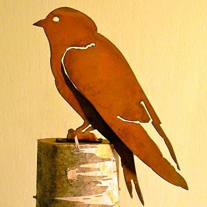 7 best bird silhouette decorations images on pinterest for Martin metal designs