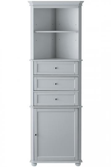 Hampton Bay Corner Linen Cabinet I - Linen Cabinets - Bathroom Cabinets - Bath | HomeDecorators.com