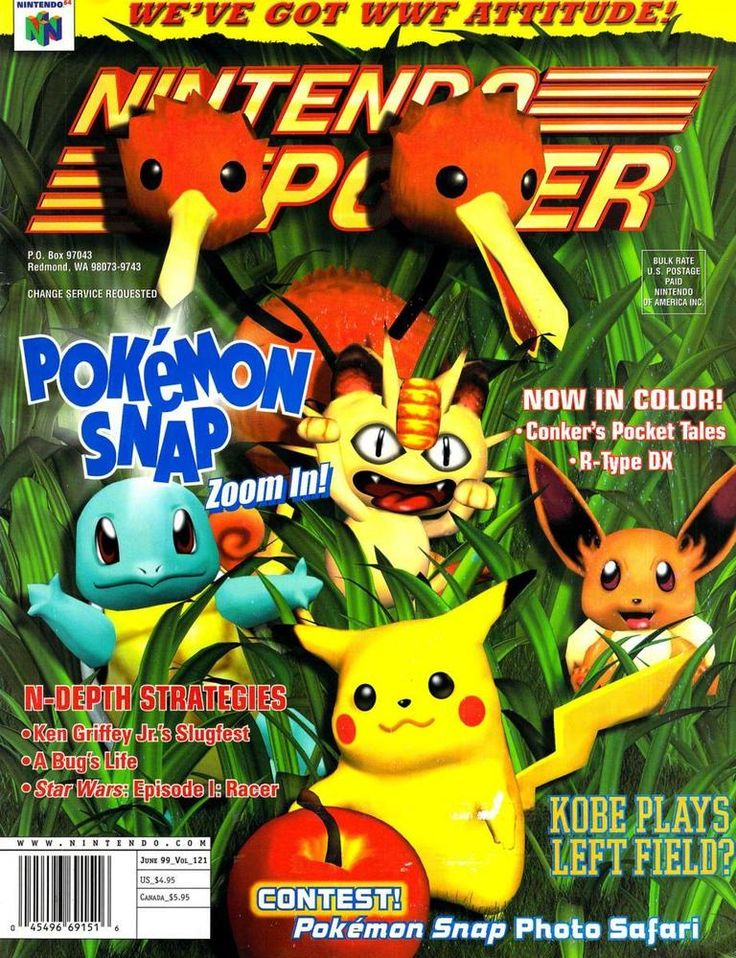 Nintendo Power magazine Pokemon Snap cover.