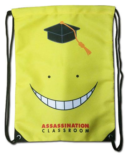 - Koro Sensei is ready to teach you how to assassinate him! - Get the smiling antagonist of Assassination Classroom on a high-quality drawstring backpack