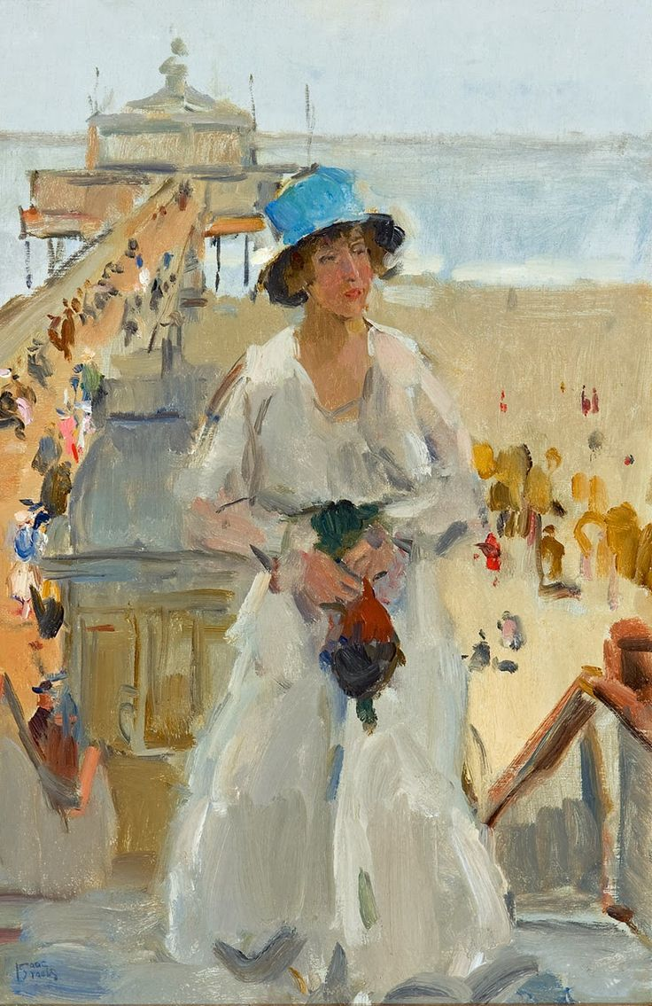 Isaac Israels ~ Dutch Impressionist painter. Between 1880-1882 he studied at the Royal Academy of Art, The Hague, where he met George Hendrik Breitner who was to become a lifelong friend. In 1881, when he was 16, he sold a painting, Bugle Practice, even before it was finished to the artist and collector Hendrik Willem Mesdag.