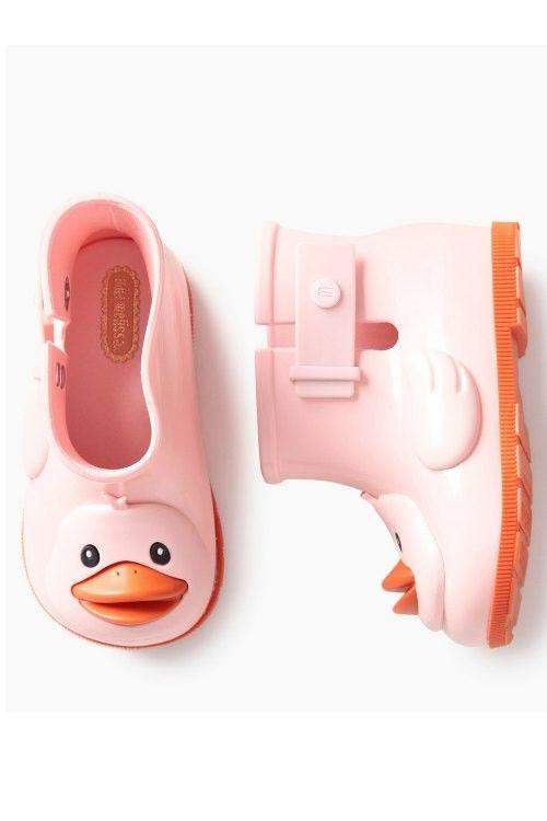 Mini Melissa Pink Duck Boot | Sugar Rain II #rainboot #kidsboot #minimelissa