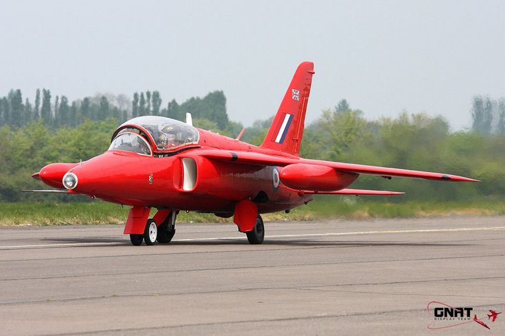 Gnat Display Team Folland Gnat. Former RAF trainer and fighter version served with Finnish and Indian Air Forces.