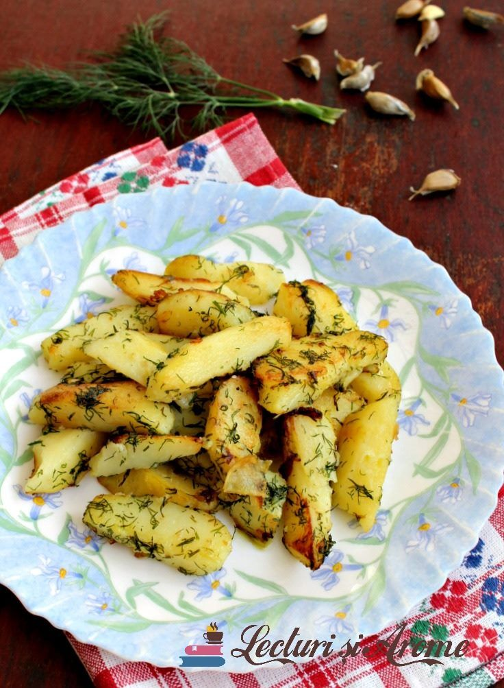 Cartofi fierți și prăjiți cu mărar - rețetă de post