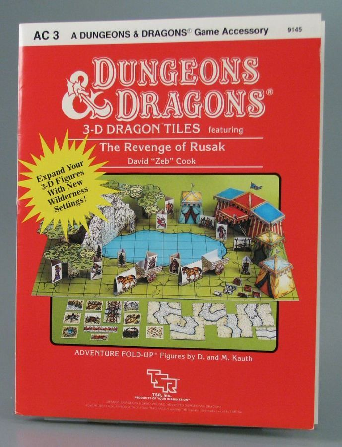 110.3084: AC3 Dungeons & Dragons 3-D Dragon Tiles Featuring the Revenge of Rusak: A Sungeons & dragons Game Ac | game | Role-Playing Games | Games | Online Collections | The Strong