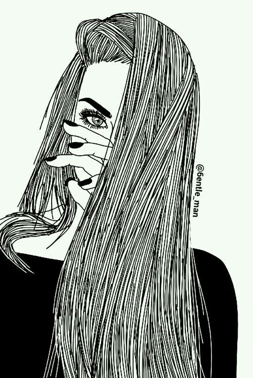 Imagem De Girl Drawing And Outline