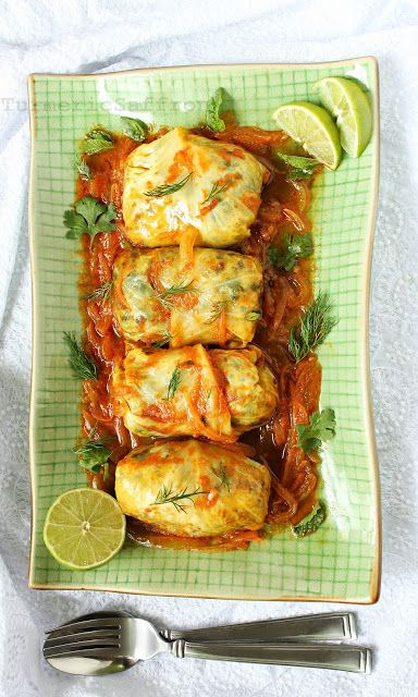 Turmeric and Saffron: Dolmeh Barg-e Kalam - Persian Stuffed Cabbage Leaves