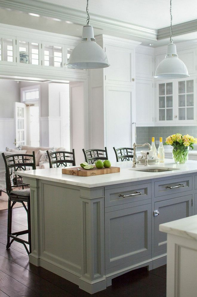 17 best ideas about gray island on pinterest grey for White kitchen gray island