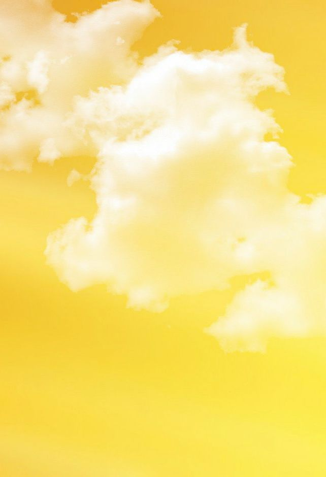 Yellow Sky and Clouds