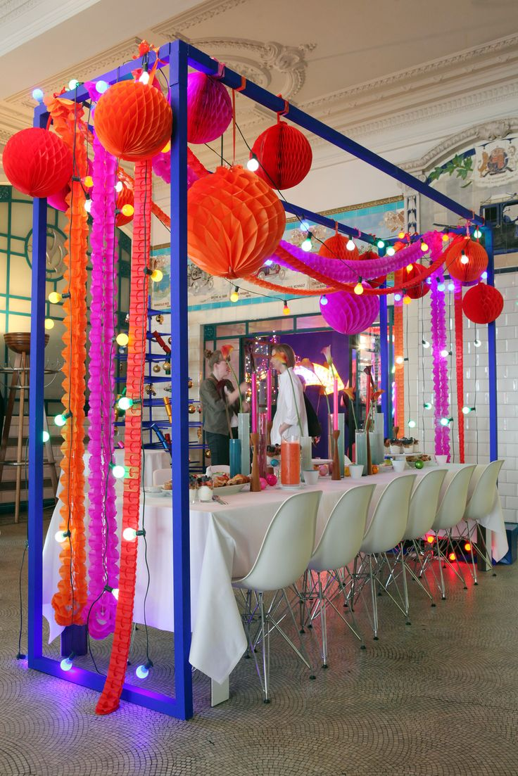 The Conran Shop Christmas Press Show Look at what they have done with our Concertina Globes and Tissue Bunting,,,Hoorraayy