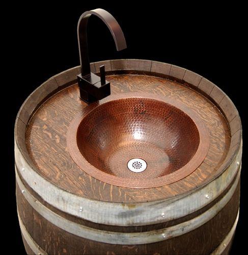 Best Kuntry Bath Images On Pinterest Bathroom Ideas Wine - Wine barrel bathroom vanity for bathroom decor ideas