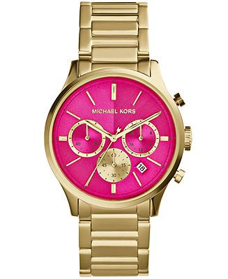 Michael Kors Women's Chronograph Bailey Gold-Tone Stainless Steel Bracelet Watch 44mm MK5909 - Watches - Jewelry & Watches - Macy's ❤️❤️❤️must have