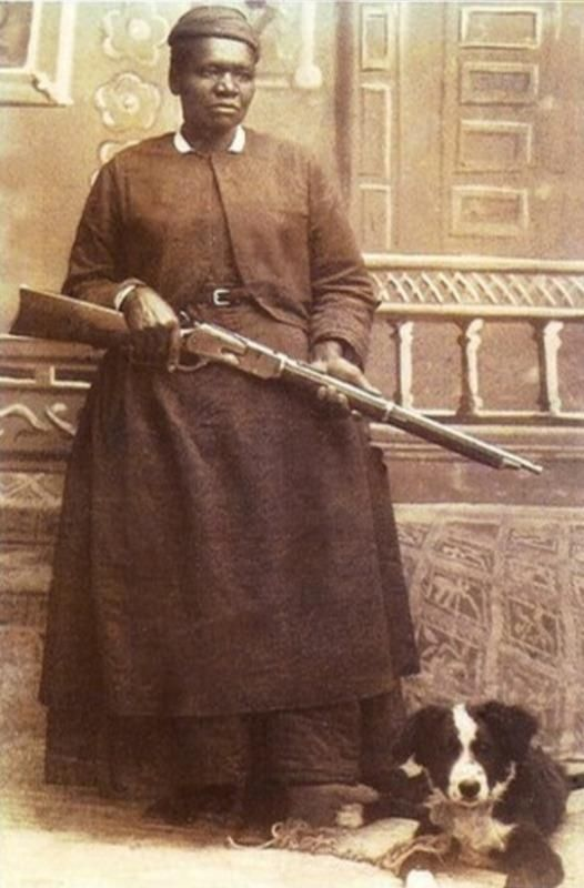 Mary Fields was born a slave in1832. Fields was a gun-totin' female in the American Wild West who was six feet tall, powerful, and she carried a pair of six-shooters and an eight or ten-gauge shotgun. Mary became a U.S. mail coach driver in 1895. She and her mule, Moses, never missed a day, and it was in this aptitude that she became a legend in her own time, Stage Coach Mary!