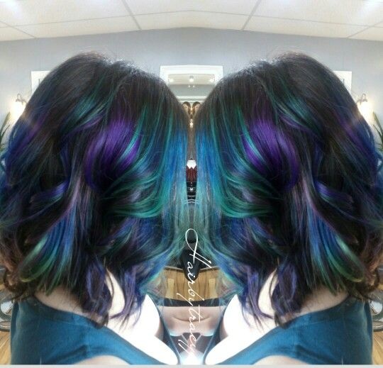 60 best oil slick hair color images on pinterest colourful hair oil slick hair solutioingenieria Choice Image