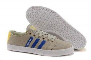 Adidas Neo Uomo Low Scarpe da running Grigio Blu royal Giallo brillante on line shop