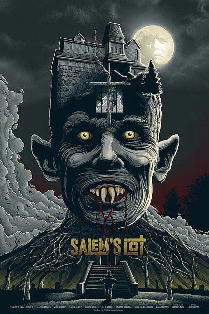 Salem S Lot By Mike Saputo Home Of The Alternative Movie Poster Amp Horror Movie Art Horror Posters Classic Horror Movies