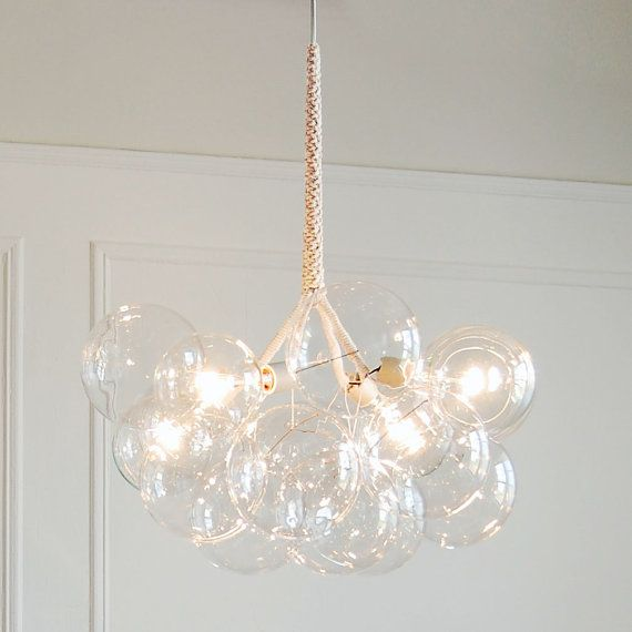 Bubble chandelier, Etsy 'PELLEshop' #fatboyconstruction #customhomes #rebuild #diy #lighting #smalldetail #colorful #white #homedecor #inside #outside #interior #exterior #beautiful #repin #interiordesign #exteriordesign #architecture