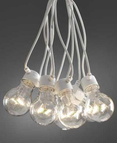 Lyslenke - Innendørs og utendørs bruk -10 lys Hvit ledning