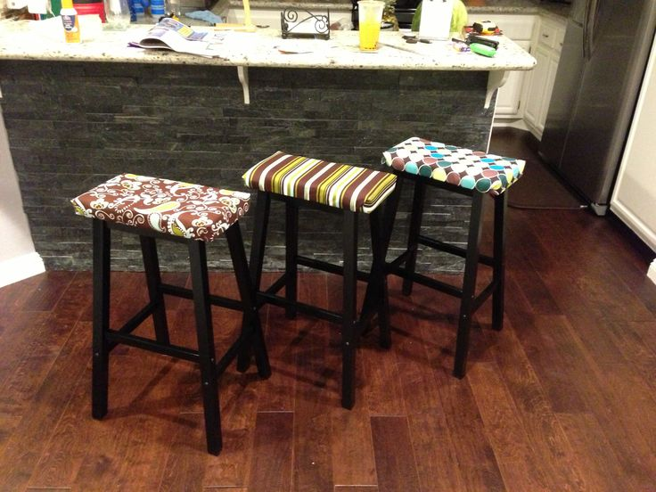 Custom Saddle Bar Stools Standard Walmart backless saddle with DIY upholstered cushionfabric