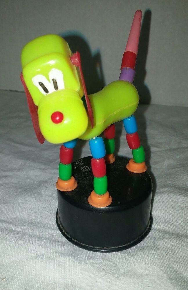 Vintage Finger Push Button Puppet Collapsible Toy Figure