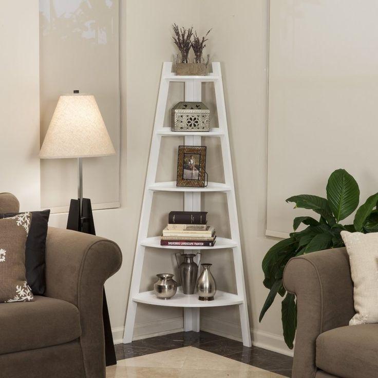 leiter ecke regal  bücherregal design wohnzimmer ideen